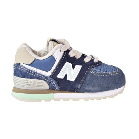 new product 09877 96601 New Balance 574 Core Toddler's Shoes Blue/Green ic574-sl