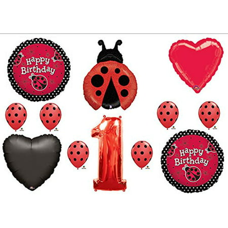 LADYBUG 1st First BIRTHDAY PARTY Balloons Decorations Supplies NEW - Ladybug First Birthday