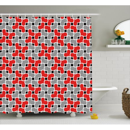 Love Shower Curtain Intricate Curvy Hearts In Floral Composition Romantic Valentines Day Inspiration Fabric Bathroom Set With Hooks 69W X 84L Inches