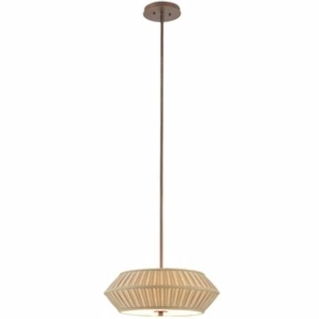 - Dolan Designs Sunrise - Three Light Pendant, Classic Bronze Finish with Toasted Pleated Fabric Shade
