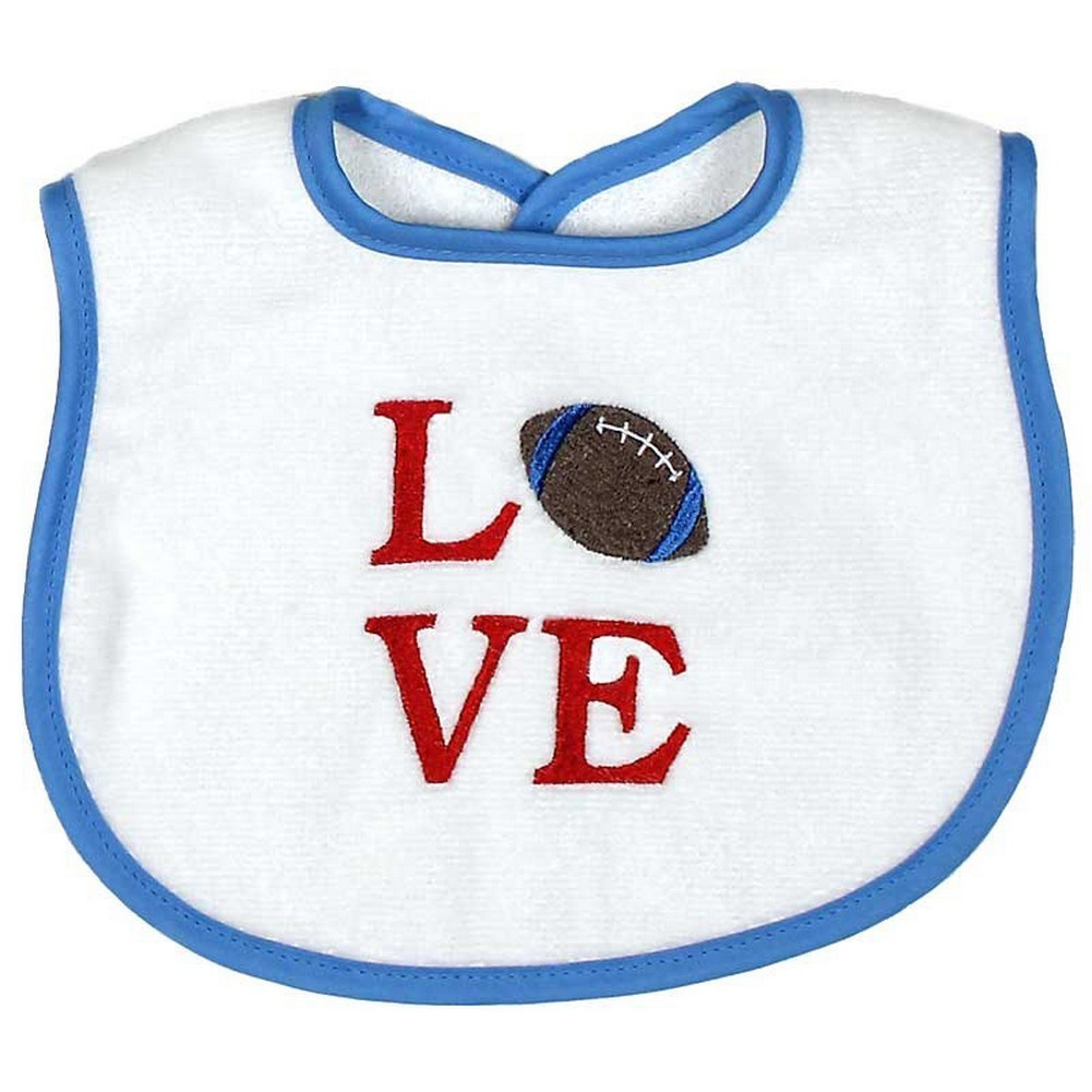 """Raindrops Baby Boys """"Love"""" Embroidered Bib, Blue by Raindrops"""