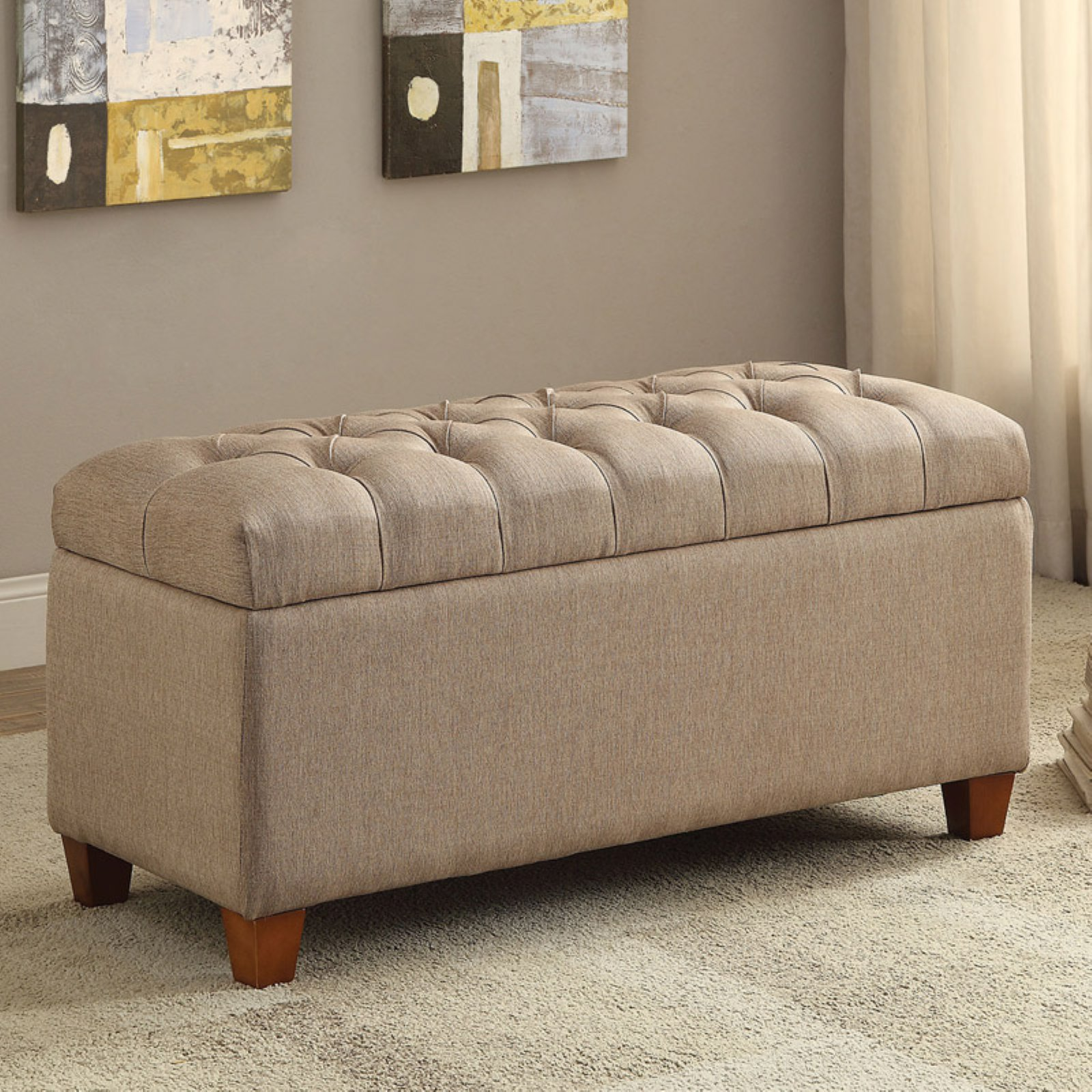 Coaster Ottoman/Bench, Taupe