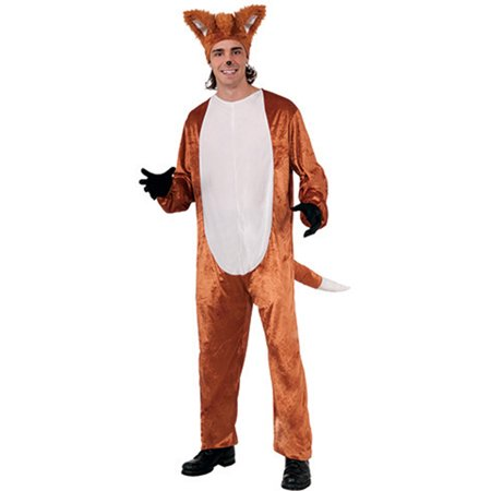 Mens What Does The Fox Say Complete Costume Set With Jumpsuit And Headpiece