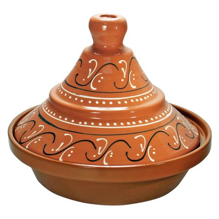 Eurita 2 Qt. Hand Painted Spanish Tagine Celebrate international flavors with the Eurita 2 Qt. Hand Painted Spanish Tagine. This generously sized tagine is available in your choice of hand-painted designs. Prep, wash, and store with convenience in this microwave, dishwasher and freezer safe set. The base and lid are both cadmium and lead free. Eurita