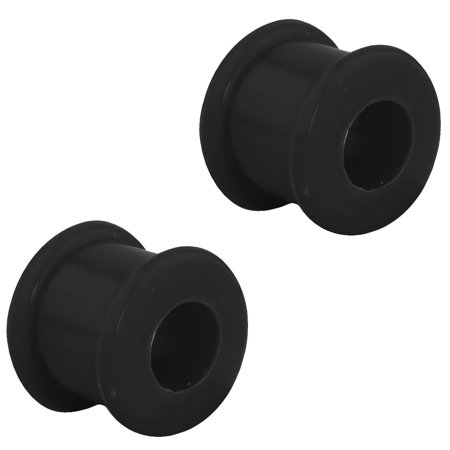Set of 00G Ultra Soft Comfort Fit Silicone Ear Gauges, 00 Gauge 10mm Flat Double Flared Tunnel Plug Earrings