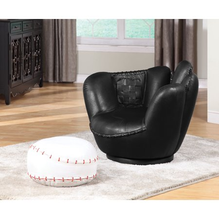 2Pc Pack Chair & Ottoman, Baseball And Glove