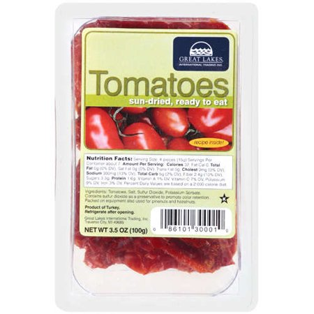 Great Lakes Intl Trading Sun Dried Tomatoes  2   3 5Oz Recloseable Containers