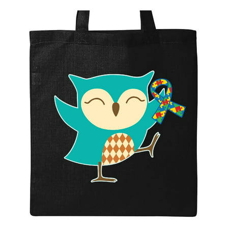 Autism Awareness Ribbon Owl Aspergers PDD Tote Bag - Owl Tote