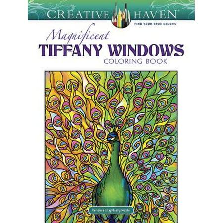 Creative Haven Magnificent Tiffany Windows Coloring Book