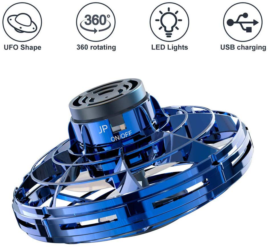 Blue FLYNOVA PRO Flying Ball Toys,2020 Upgraded Version Rechargeable Hand Controlled 360/°Rotating Built-in LED Mini Drone Flying Boomerang Balls Gifts Choices for Boys Kids Adults Indoor Outdoor