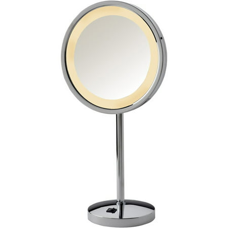 Jerdon 9 5 Quot Tabletop Led Halo Lighted Mirror With 5x