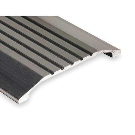 424-4 Saddle Threshold, Fluted Top, 4 ft., Alum