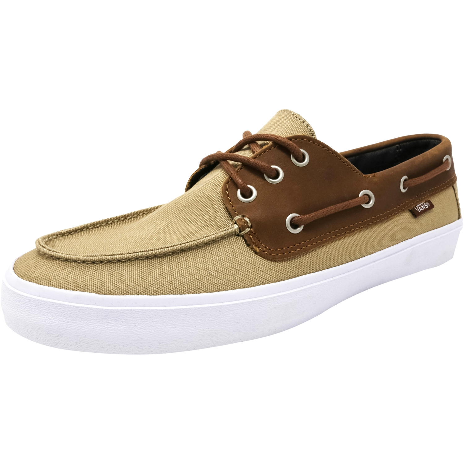 e7a8594e3a5a9f Vans Men s Chauffeur Sf C And L Khaki   Chambray Ankle-High Leather Flat  Shoe - 7M