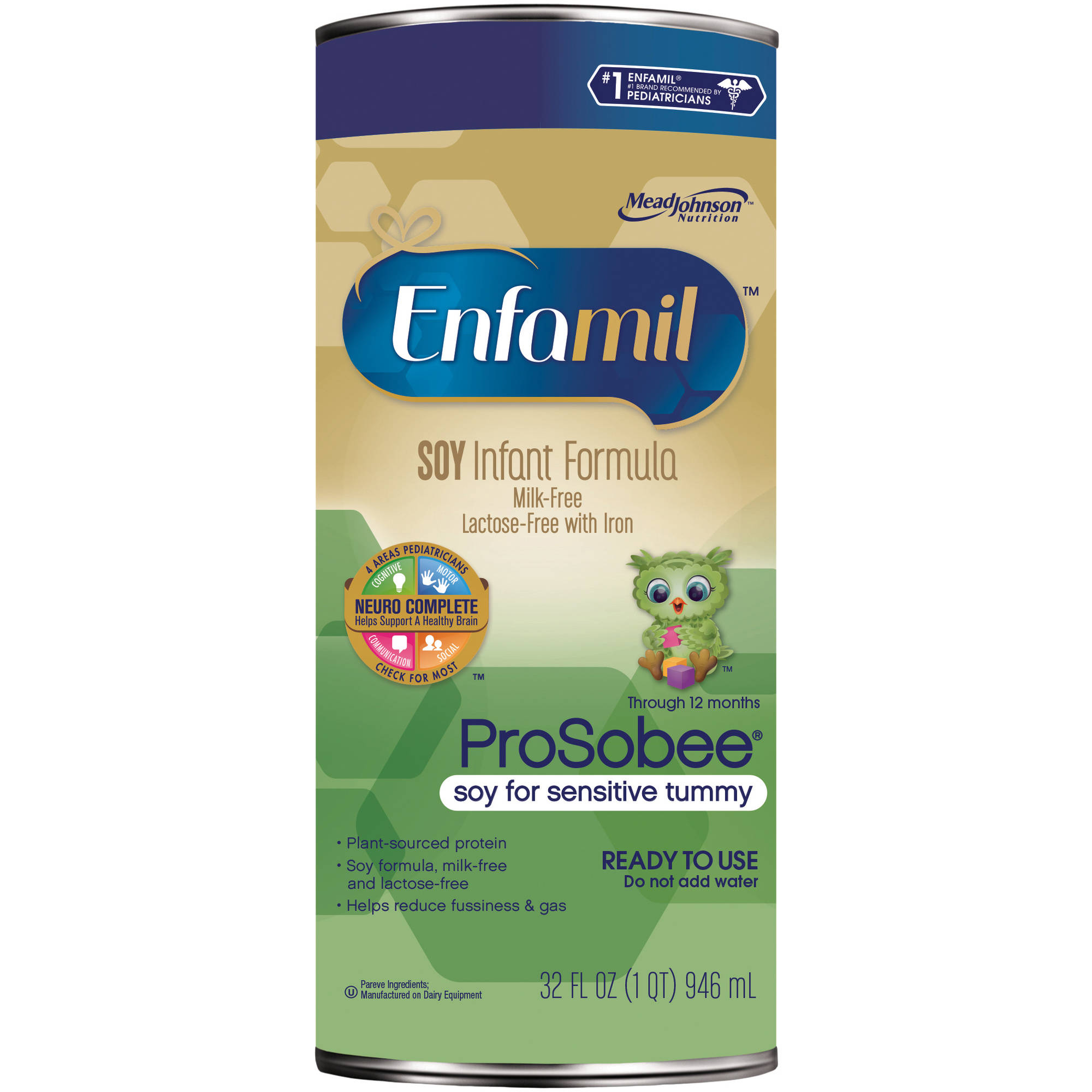 Enfamil ProSobee  baby formula - 32 fl oz Ready-to-Use Can