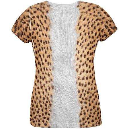 Happy Halloween Cheetah (Halloween Cheetah Costume All Over Womens T)