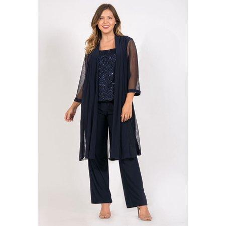 3c234710cab R M Richards - R M Richards Mother of the Bride Plus Size Pant Suit with  Jacket - Walmart.com