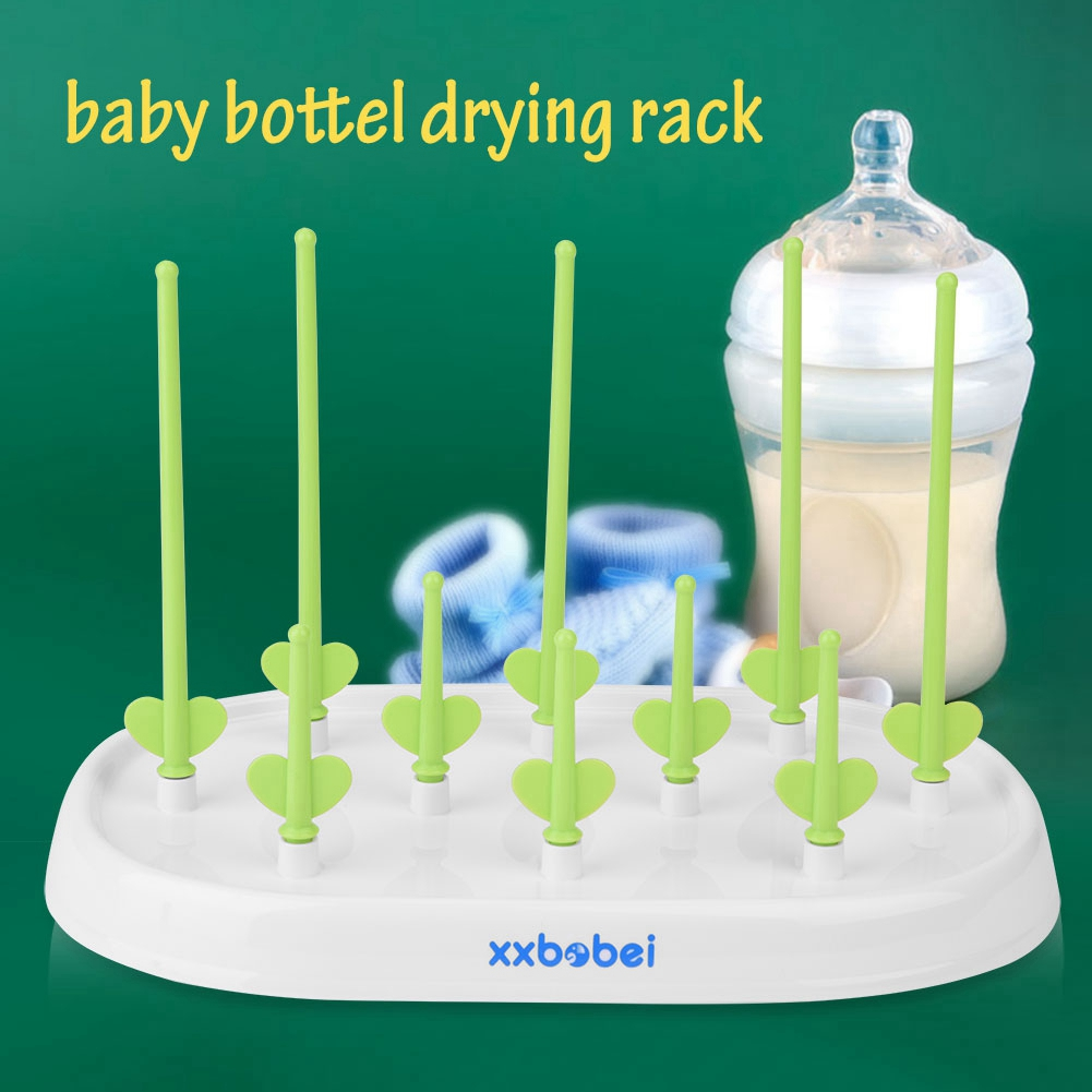 Dilwe Countertop Bottle Drying Rack,Portable Baby Feeding Milk Bottle Cup Drying Rack Dryer Drainer, Detachable Drying Rack Baby, Baby Bottle Drying Rack