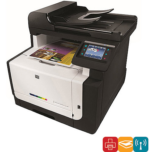 HP ish Color LaserJet Pro CM1415FNW Multifunction Printer...