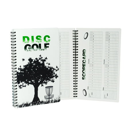 Disc Golf Score Keeper, 110 Rounds for 6 Players, Wire Bound