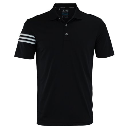 Adidas Men's Black 3-Stripe Coaches Polo