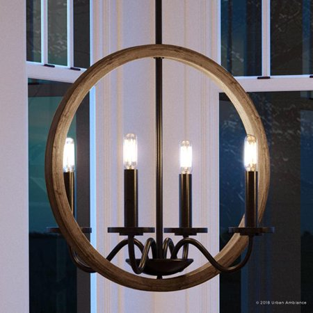 Modular Dark Bronze Chandelier - Urban Ambiance Luxury Farmhouse Chandelier, Size: 30
