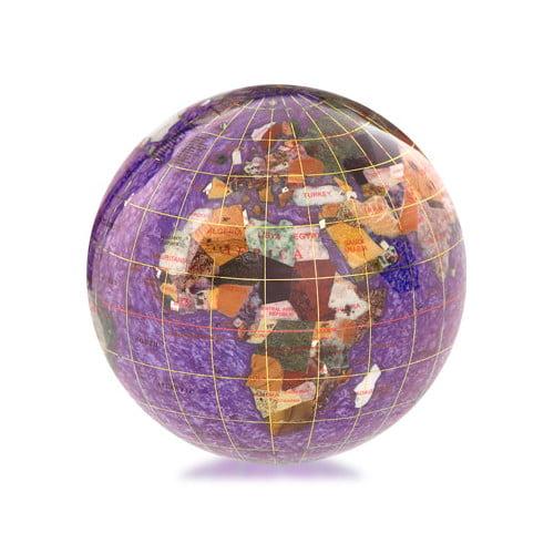 "3"" Gemstone Globe Paperweight"