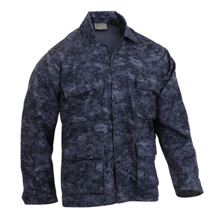 Rothco Mens Midnight Digital Camo Tactical BDU Combat Shirt