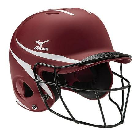 Mvp Autographed Helmet (Mizuno MVP Prospect Two Tone Batting Helmet with Facemask)