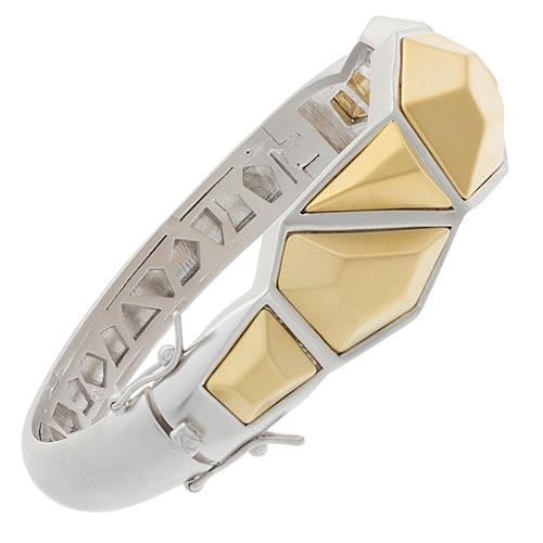 NEXTE Jewelry  Two-tone Architecturally-inspired Urban Bangle Bracelet