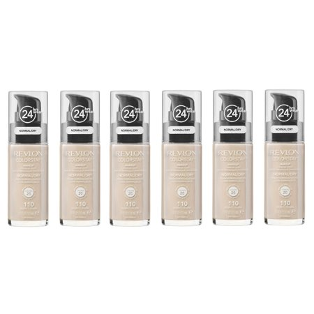 Revlon Colorstay Makeup Foundation for Normal To Dry Skin, #110 Ivory (Pack of 6)