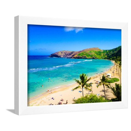 Hanauma Bay, the Best Place for Snorkeling in Oahu,Hawaii Framed Print Wall Art By (Best Place To Snorkel In St Thomas)