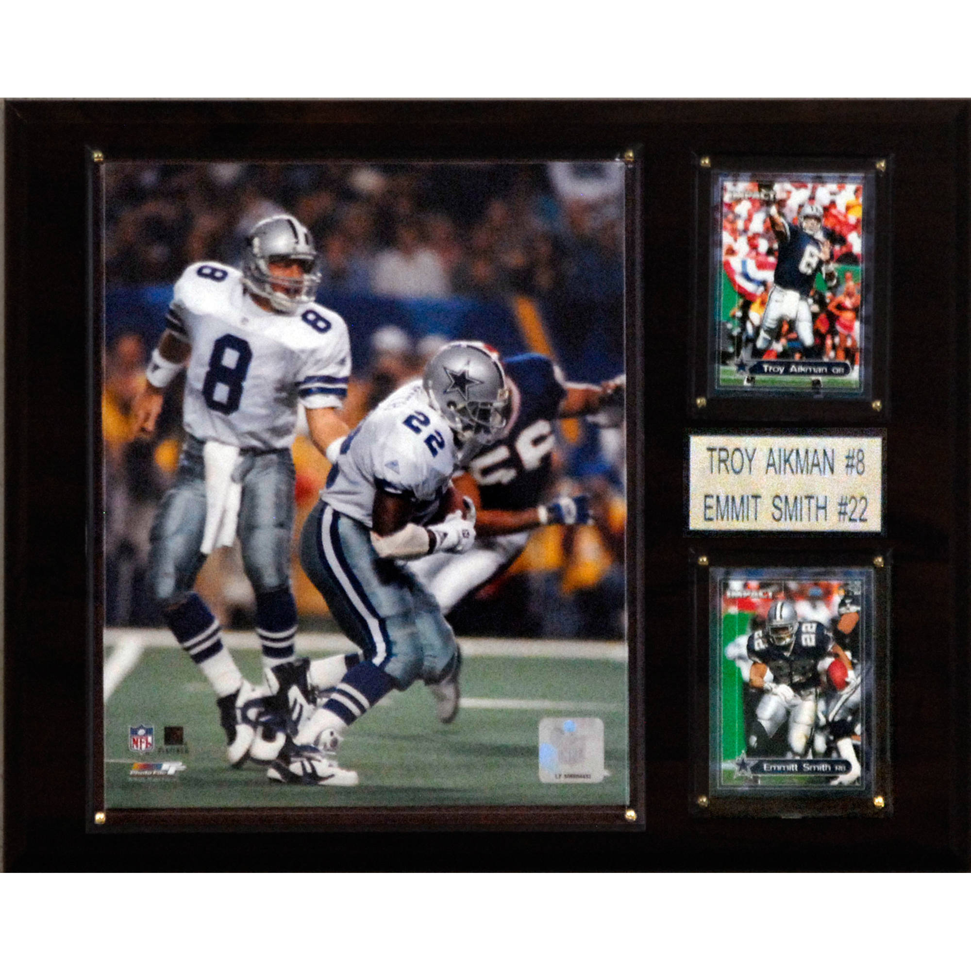 C&I Collectables NFL 12x15 Troy Aikman & Emmitt Smith Dallas Cowboys Player Plaque