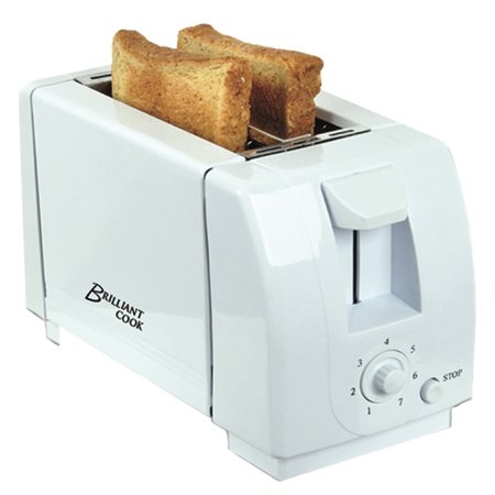 Toaster 2-Slice Toaster Cool Wall White 750 Watts 7 Level Shading Control