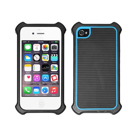 official photos 04566 cff09 Cellet Black/Blue Case with Bumper for iPhone 4 & 4S