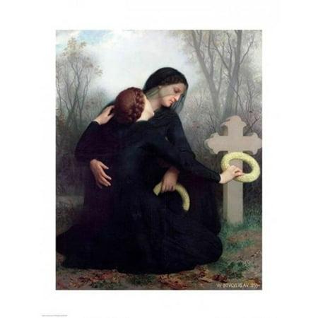Le Jour Des Morts Poster Print by William A. Bouguereau - 24 x 36 in. - Large - image 1 de 1