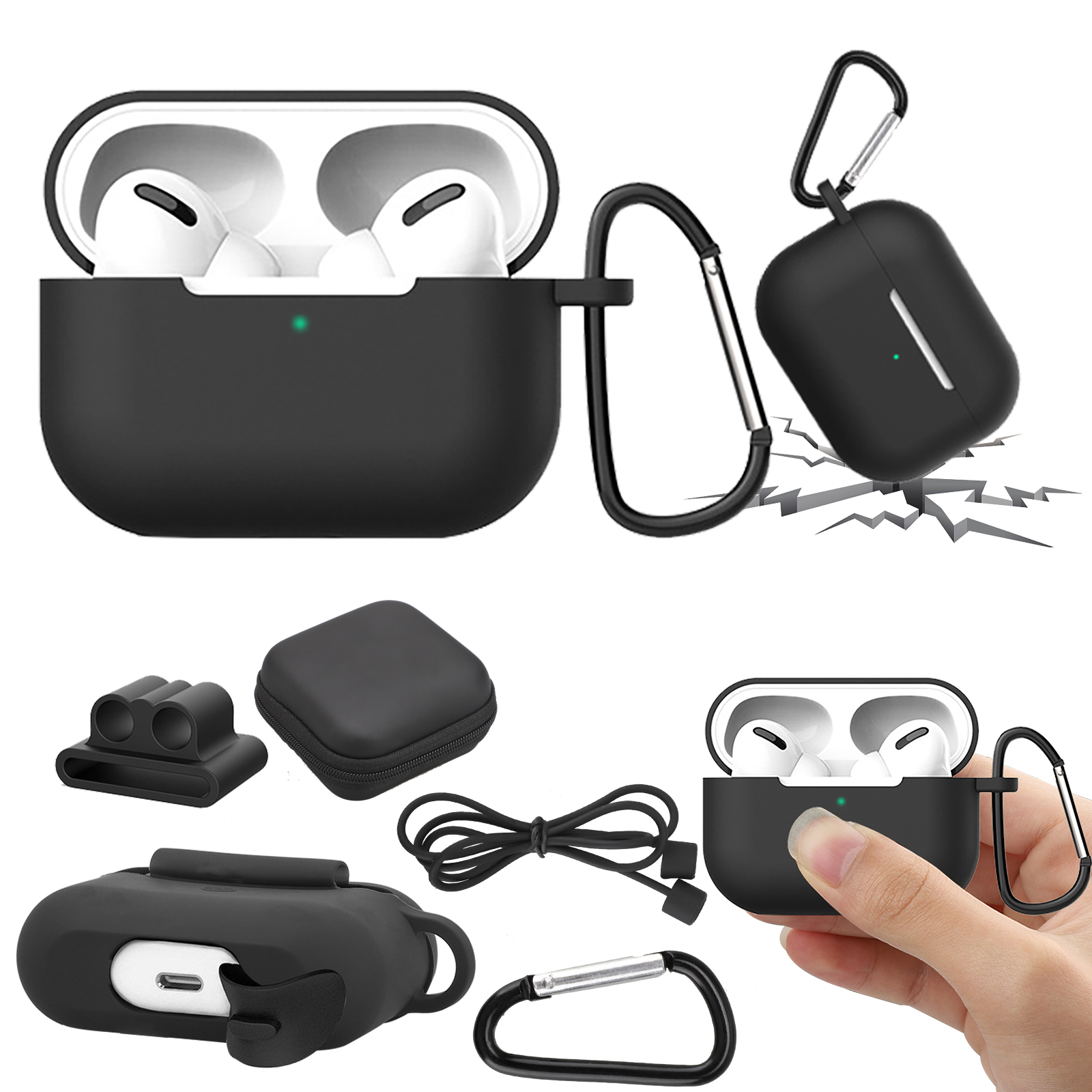 Compatible With Airpods Pro Case 5 In 1 Accessories Kit