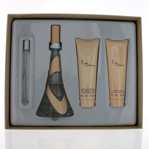 RIHANNA NUDE WOMEN 4 PIECE GIFT SET - 3.4 OZ EAU DE PARFUM SPRAY by RIHANNA
