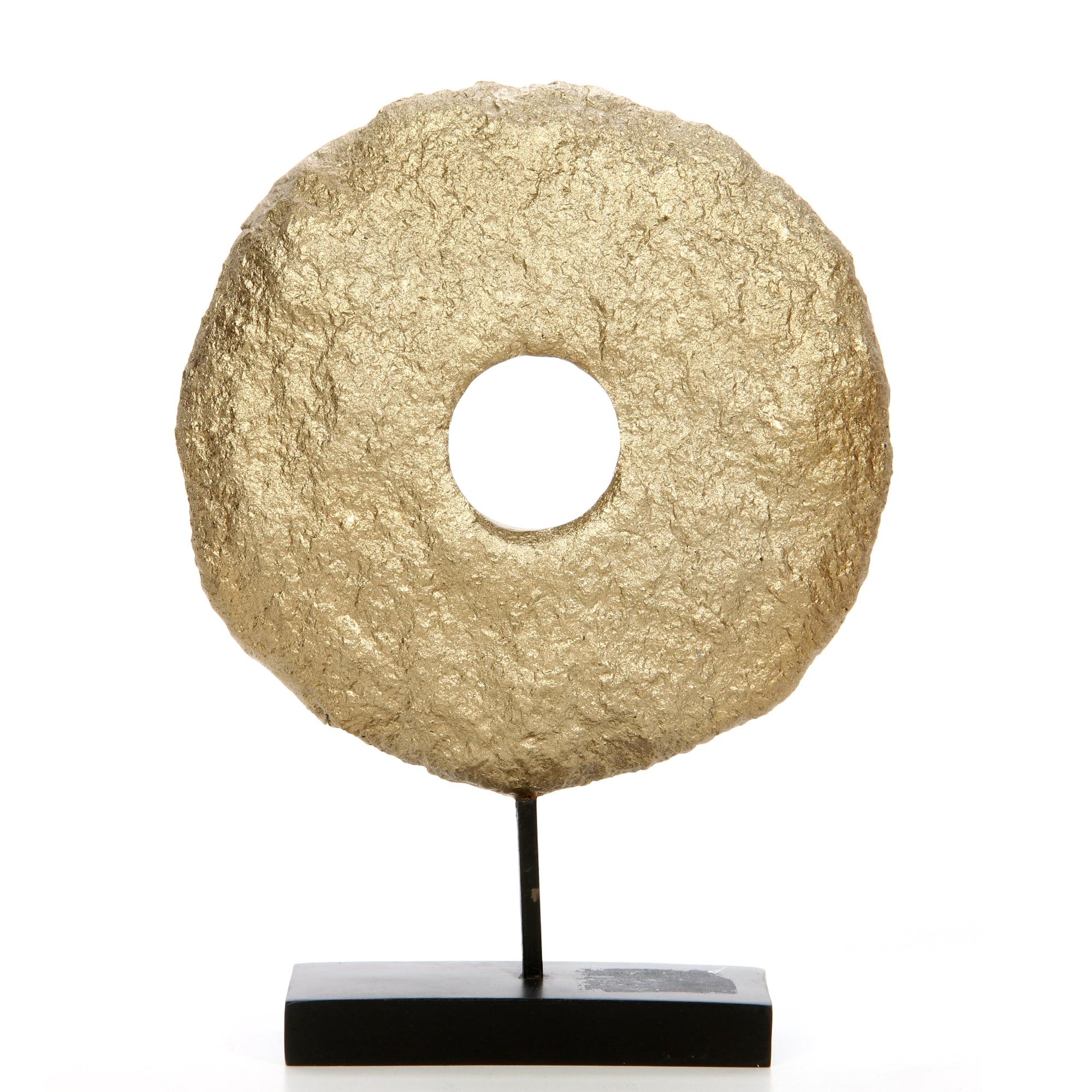 Decorative Tabletop Sculpture Gold Pedestal