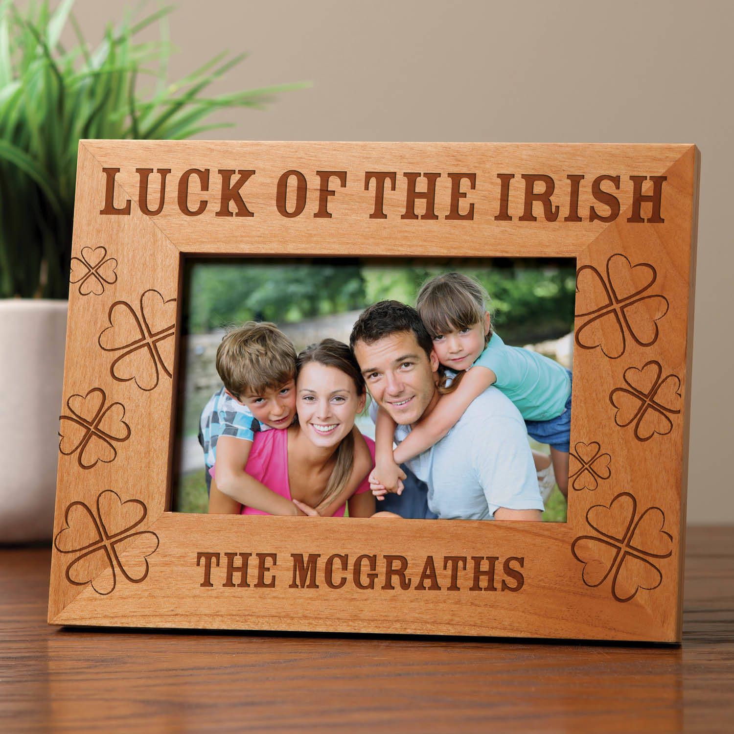 Luck Of The Irish Personalized Wood Frame