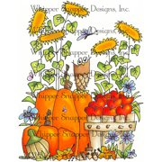 "Whipper Snapper Cling Stamp 4""X6""-Fall Harvest"