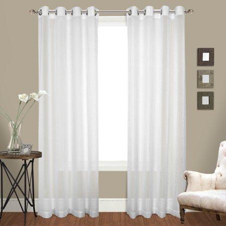 Venetian 100 X 63 2 50 X 63 Window Curtain Panel Pair White
