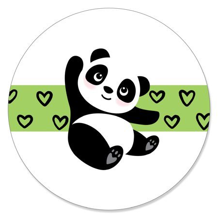 Party Like a Panda Bear - Baby Shower or Birthday Party Circle Sticker Labels - 24 Count](Panda Bear Party Supplies)