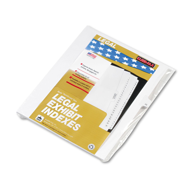"""80000 Series Legal Index Dividers, Side Tab, Printed """"35"""", 25/Pack"""
