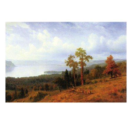 View of The Hudson River Valley Print Wall Art By Albert Bierstadt (Halloween Hudson River Valley)