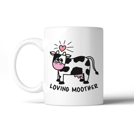 Loving Moother Cow 11 Oz Ceramic Coffee (Crow Coffee)