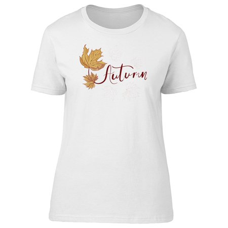 Butterfly Leaf Top - Autumn Cool Maple Leaf Tee Women's -Image by Shutterstock