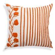 A1 Home Collections Striped Floral Throw Pillow