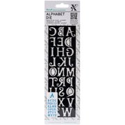 "Xcut Alphabet Die, 2.5"" x 8.5"""