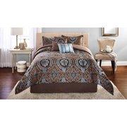 Mainstays Victoria Jacquard Comforter Set, 7 Piece