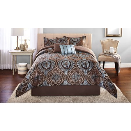 Toile King Comforter - Mainstays King Victoria Jacquard Comforter Set, 7 Piece